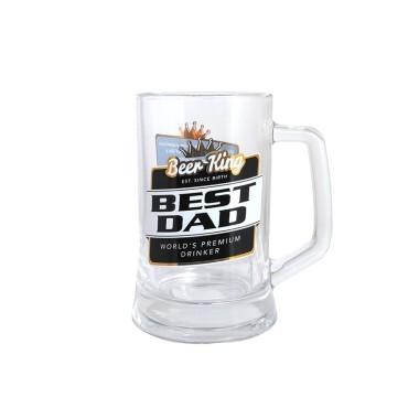 Best Dad Premium Beer Stein by Beer King