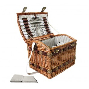 Picnic Basket with Accessories and Cheese Board for 4 Persons