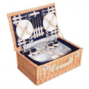 Picnic Basket with Cooler Bag for 4 Persons