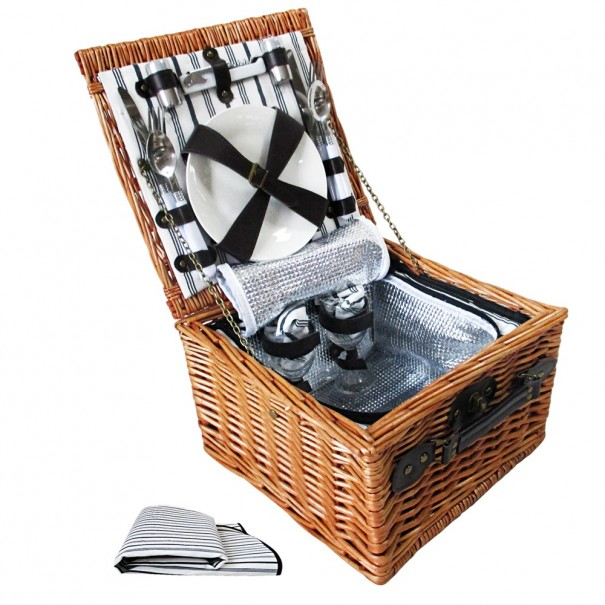 Picnic Basket with Accessories for 2 Persons