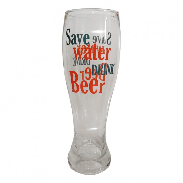 Save Water Drink Beer Tall Beer Glass