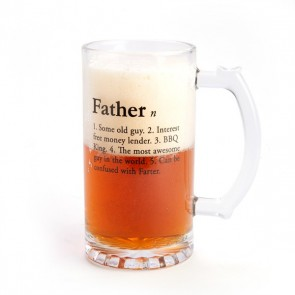 Father Definition Glass Beer Stein