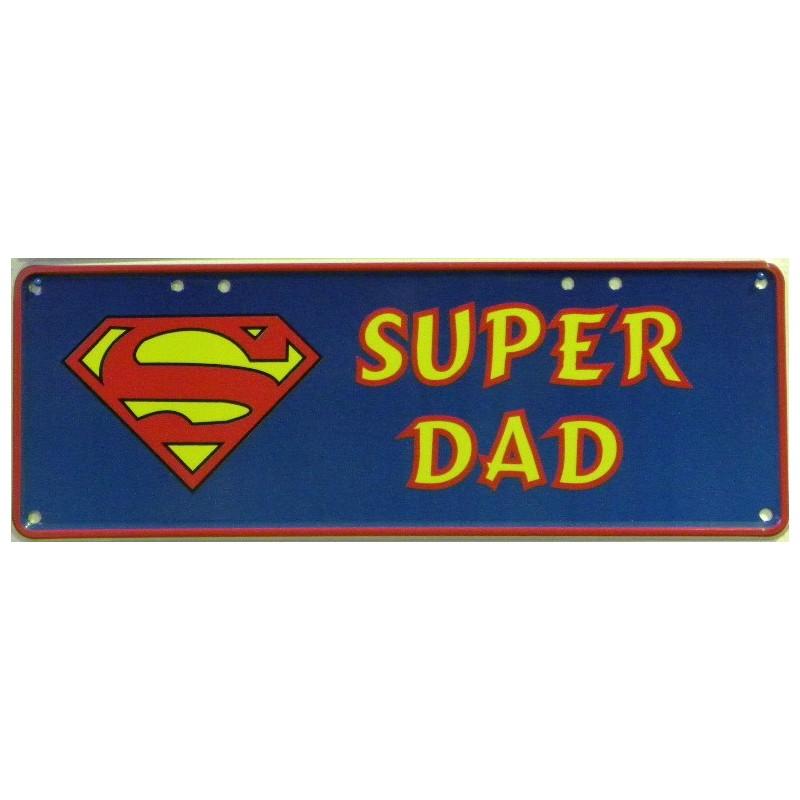 Super Dad Number Plate