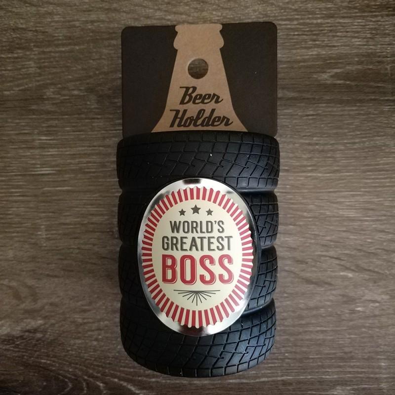 World's Greatest Boss Beer Holder