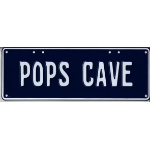Pop's Cave Novelty Number Plate