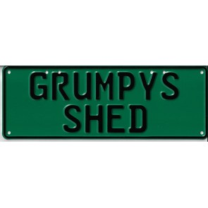 Grumpy's Shed Novelty Number Plate