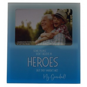 My GRANDAD the Hero Glass Photo Frame