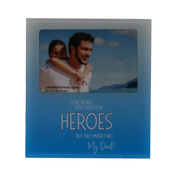 My DAD the Hero Glass Photo Frame