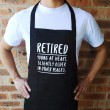 Retired Young at Heart Apron
