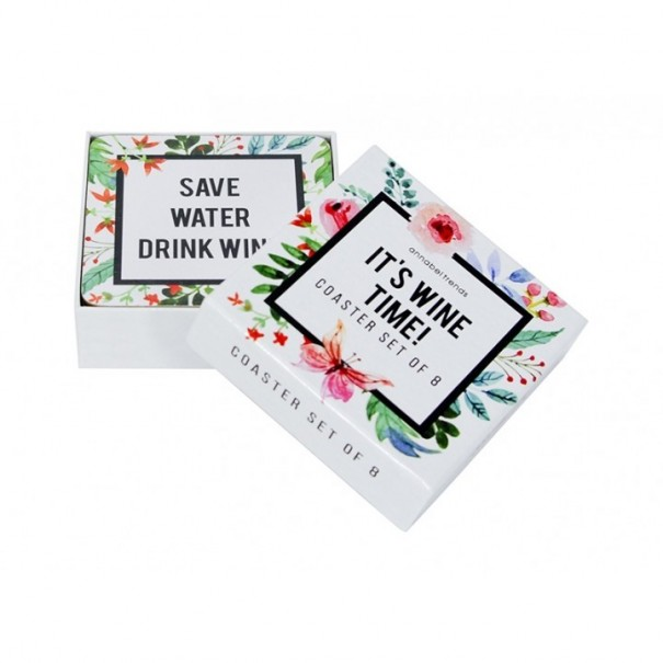 It's Wine Time - Set of 8 Coasters