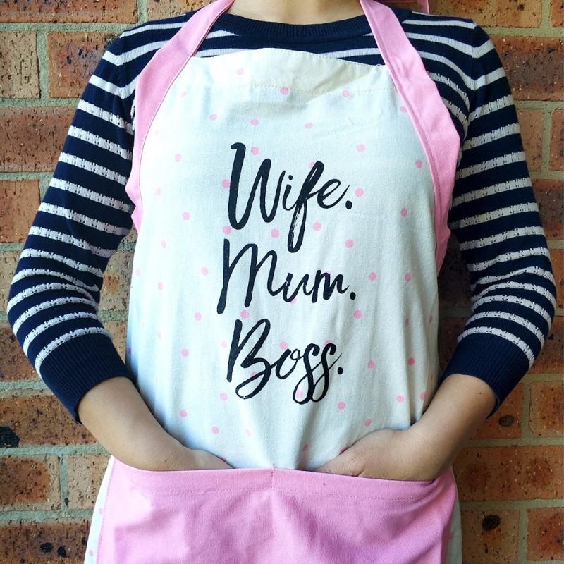 Wife Mum Boss Apron