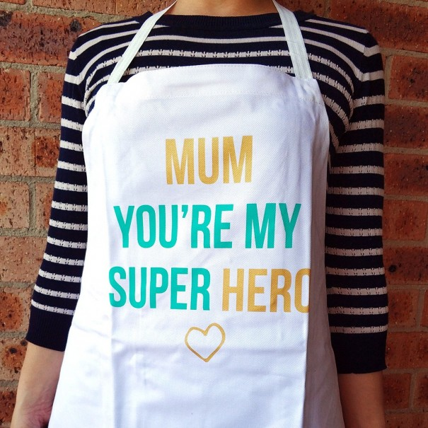 Super Hero Mum Apron