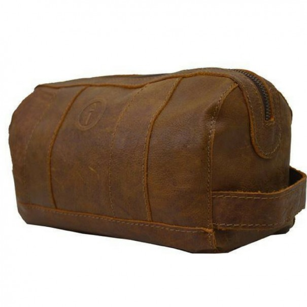 Watson Genuine Leather Toiletry Bag by Indepal Leather