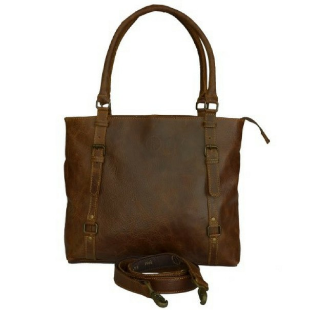 Genuine Leather Buckle Bag by Indepal Leather