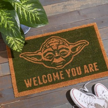 Star Wars Yoda Welcome You Are Door Mat