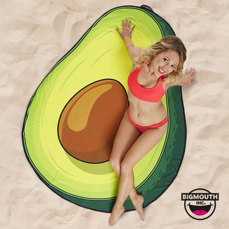 Gigantic Avocado Beach Towel
