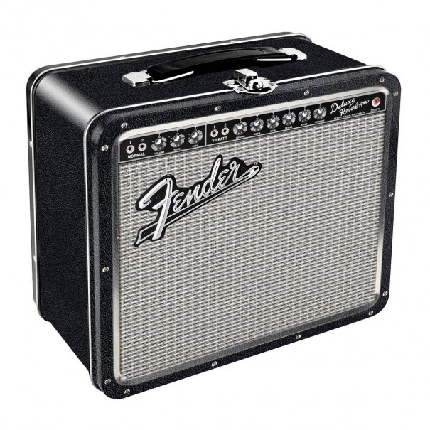 Fender Amp Tin Carry All Fun Box or Lunch Box