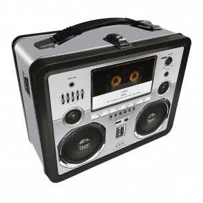 Boombox Tin Carry All Fun Box or Lunch Box
