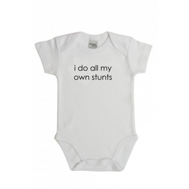 I Do All My Own Stunts Baby Onesies / Grow Suit