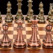 Bronze and Copper Weighted Chess Set by Dal Rossi Italy