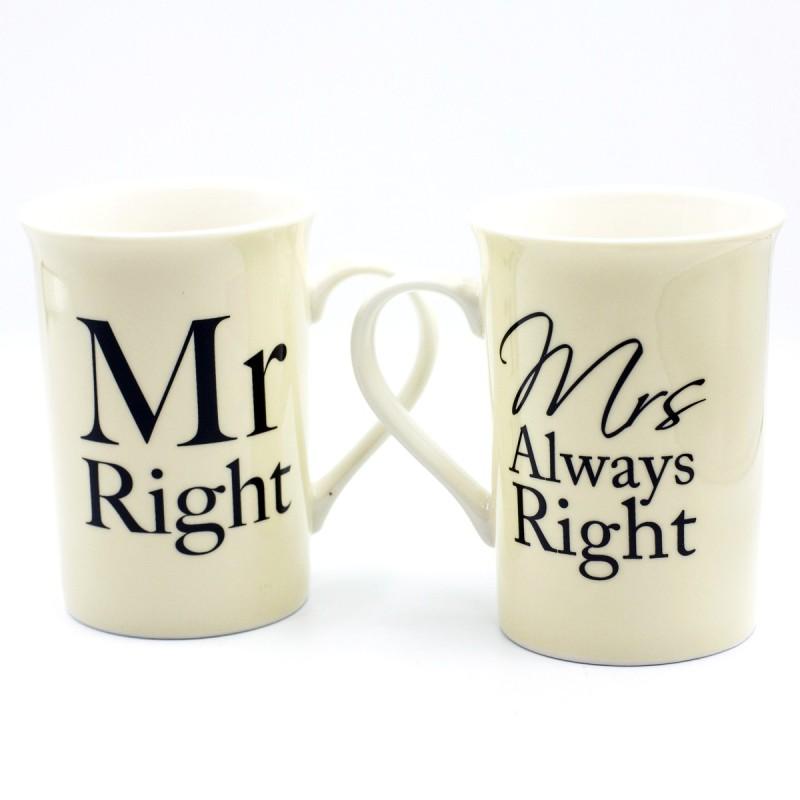 Mr. Right & Mr's Always Right Pair Mug