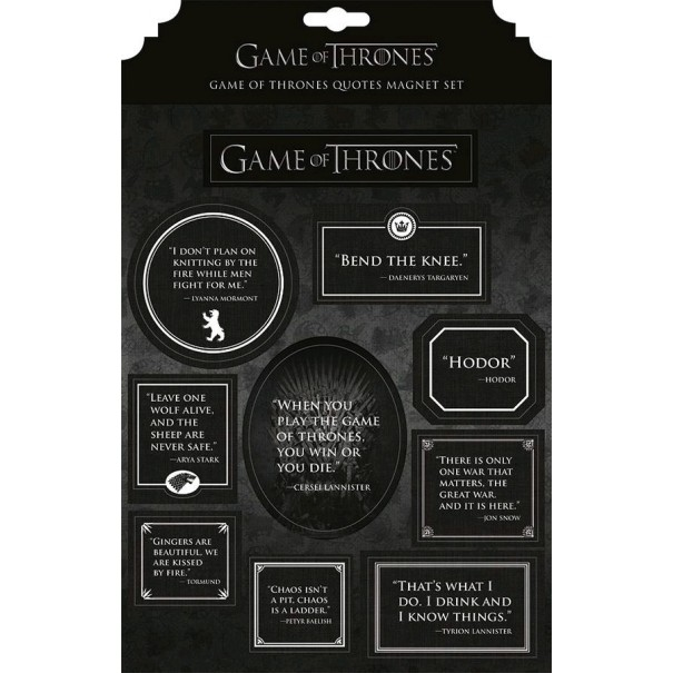 Game of Thrones - Quotes Magnet Set