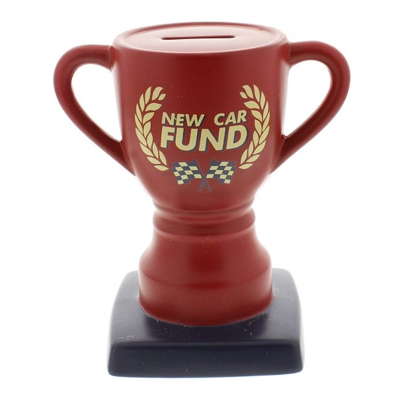 New Car Fund Trophy Money Bank