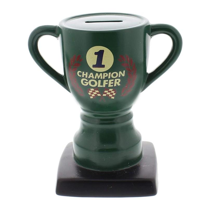 Champion Golfer Trophy Money Bank
