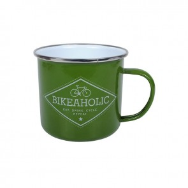 Bikeaholic Enamel Mug
