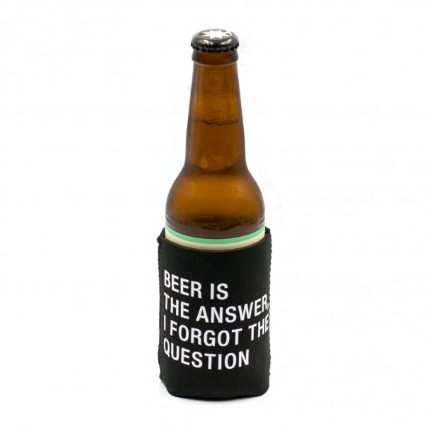 Beer is the Answer Stubby Holder