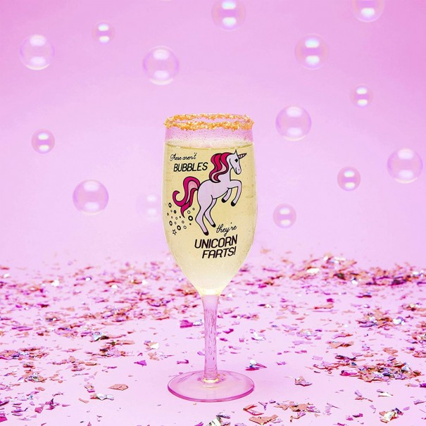 The Unicorn Farts Champagne Glass