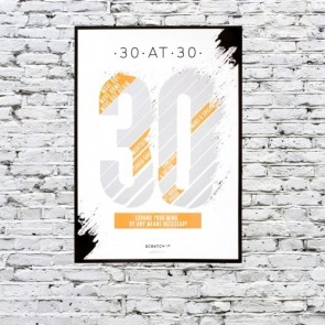 30 at 30 Scratch & Reveal Challenge Poster