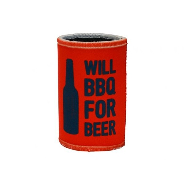 Will BBQ For Beer Can Cooler