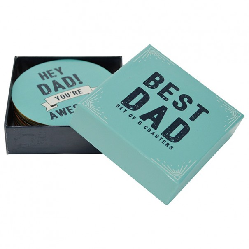 Best Dad - Set of 8 Coasters