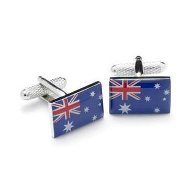 Australia Flag Cufflinks with Box