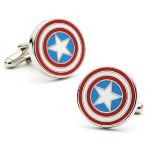 Captain America Cufflinks with Box