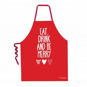 Eat Drink and Be Merry Christmas Apron