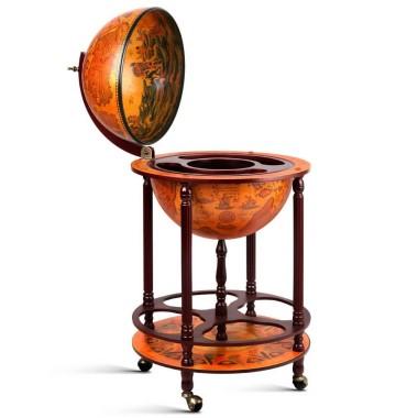Antique Brown Globe Bar...