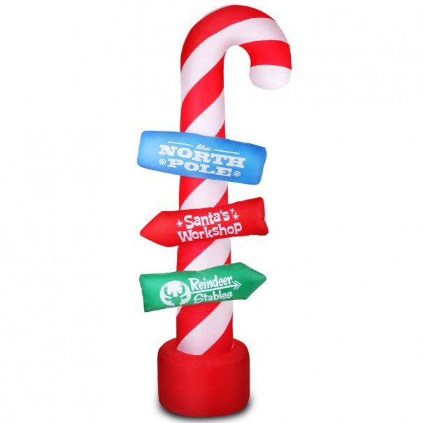Giant Inflatable Santa Guide Candy Pole