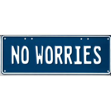 No Worries Novelty Number...