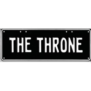The Throne Novelty Number...