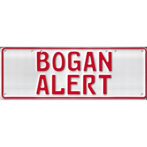 Bogan Alert Novelty Number...