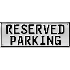 Reserved Parking Number...