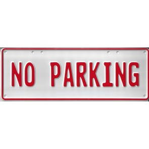 No Parking Number Plate...