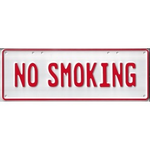 No Smoking Number Plate...