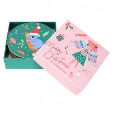 Christmas Angel Coaster Set