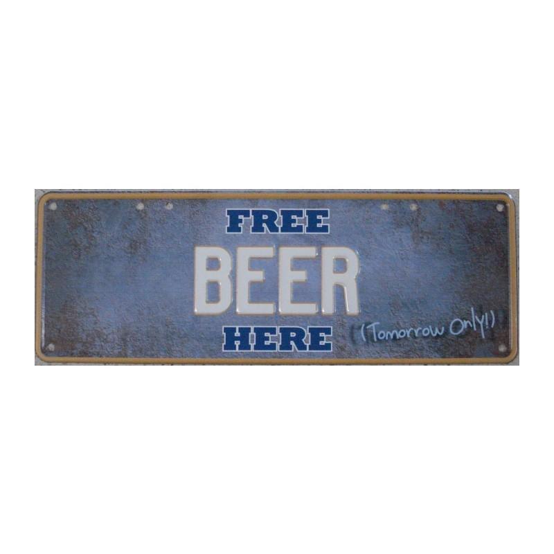 Free Beer Here Number Plate