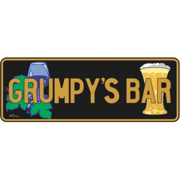 Grumpys Bar Novelty Number Plate