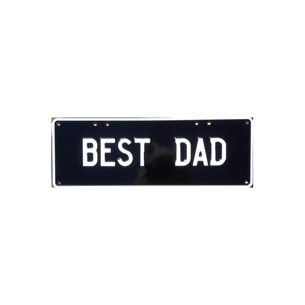 Best Dad Novelty Number Plate