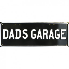 Dad's Garage Novelty Number Plate